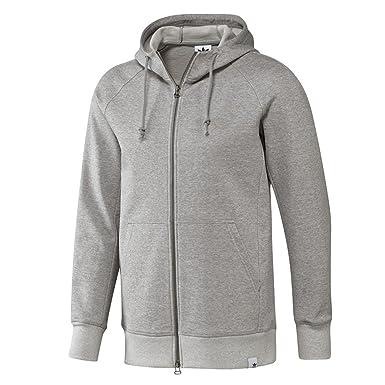 adidas XBYO Full Zip Hoodie Grey Heather: Amazon.co.uk