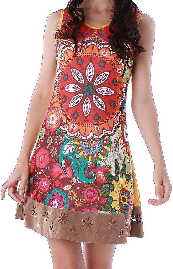 PANASIAM Kleid, farbenfrohe Tunika, aus Baumwolle, in S, M, L und XL, kleine Auflage (Boutiqueware) !