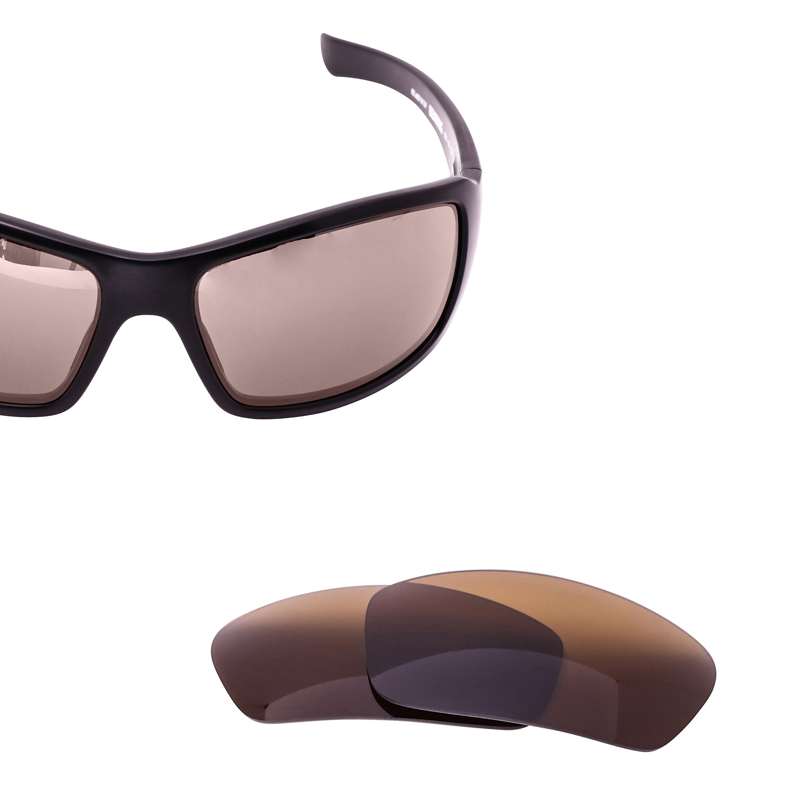 LenzFlip Replacement Lenses for Revo BEARING Sunglass - Brown Polarized Lenses by LenzFlip