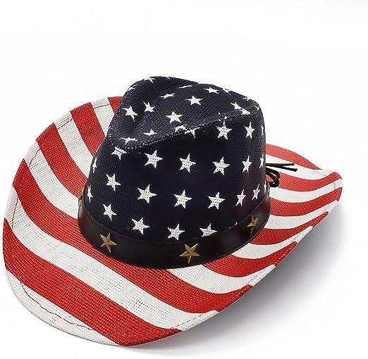 grinderPUNCH Classic American Flag Cowboy Hat