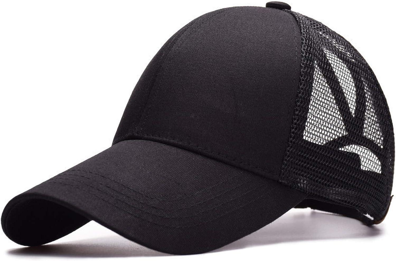 Mageed Anna New Solid Ponytail Baseball Cap Women Hat Messy Bun Baseball Cap Girls Summer Mesh Cap