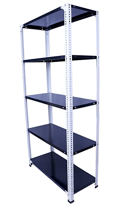 Menage® Slotted Angle Rack with 5-Shelf Shelving Unit Multipurpose