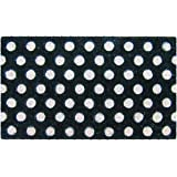 Entryways White Polka Dots Hand Woven Coir Doormat, 18 by 30-Inch