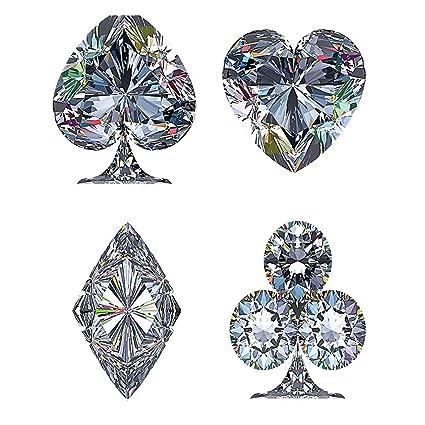 Kisscase Custom Manta Juego De Cartas Diamantes De Diamantes