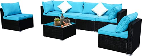 DOIT Patio Furniture for Back Yard,Patio Furniture Set,Patio Sets, Patio Chairs Set of 7,Patio Set 7pcs
