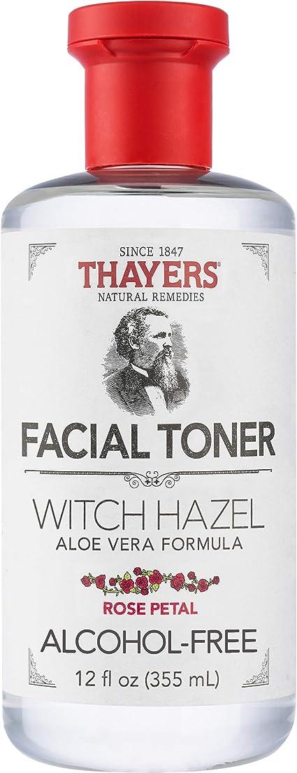 Thayers Tonificador sin alcohol con pétalos de rosa, hamamelis y aloe vera, 355 ml: Amazon.com.mx: Salud y Cuidado Personal