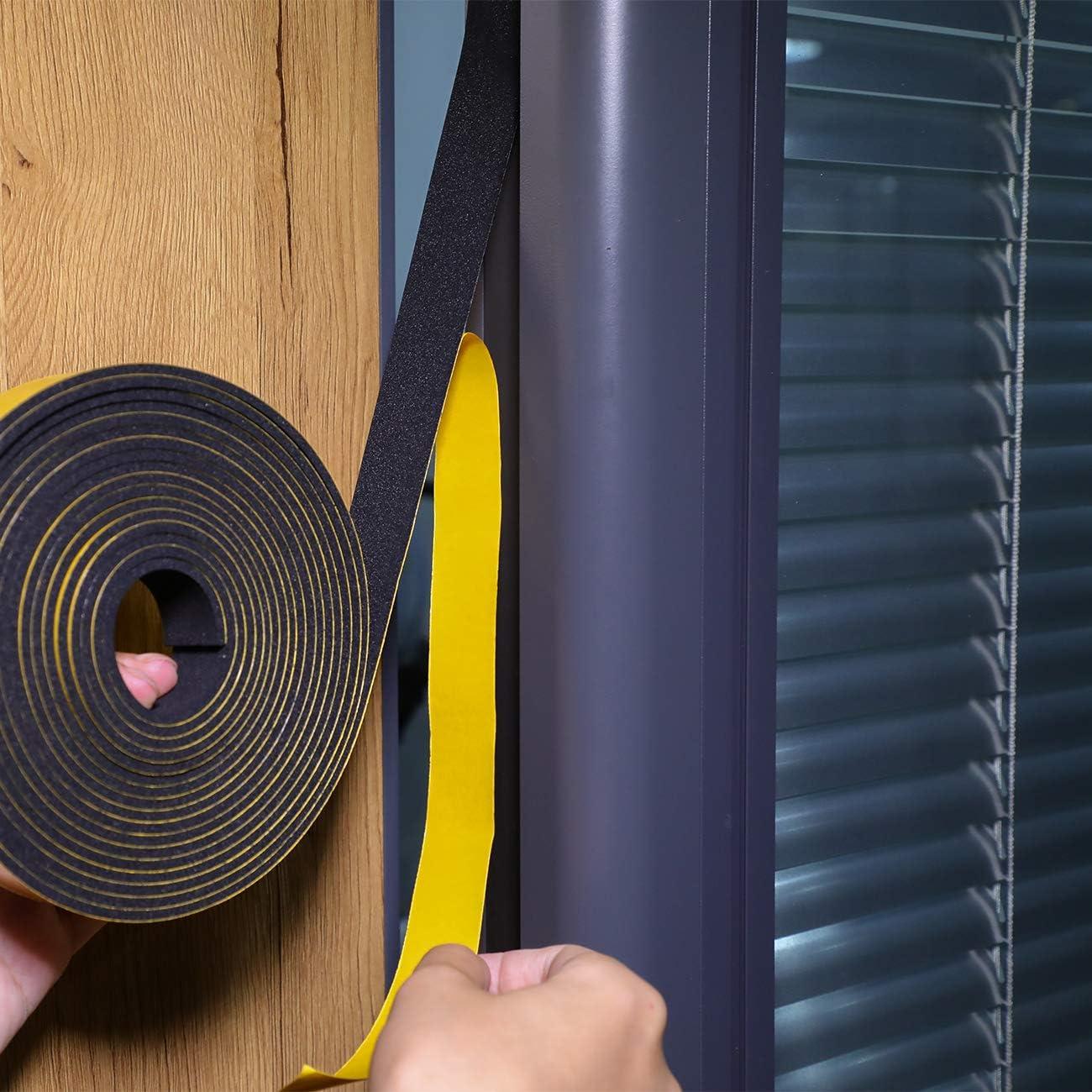 Fowong Strong - Cinta adhesiva de doble cara (espuma, para absorción de fábricas, amortiguación y aislamiento acústico, caja resistente a los golpes), color negro: Amazon.es: Bricolaje y herramientas