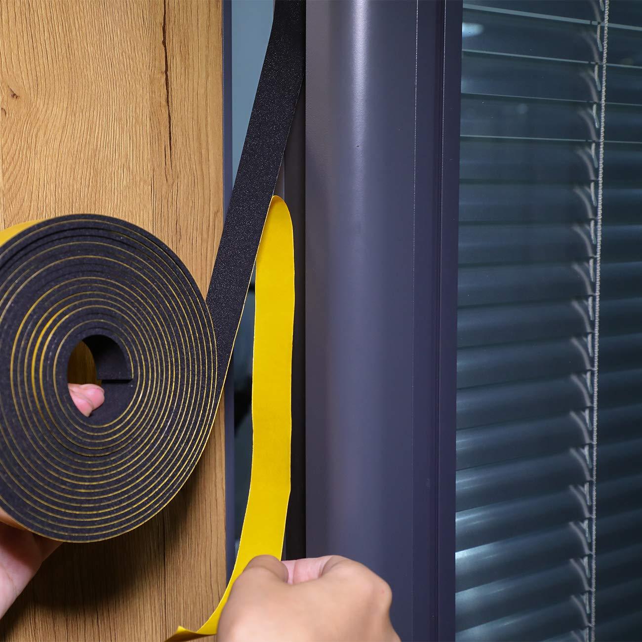 Moosgummi selbstklebend f/ür Kollision Siegel Schalld/ämmung Gesamtl/änge 4m B 2 Rollen je 2m lang Schaumstoff Dichtungsband Fenster-T/ürdichtung kochheld Schaumstoff Selbstklebend 25mm x10mm D