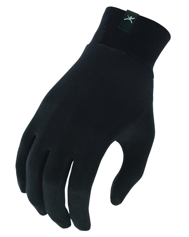 Terramar Adult Thermasilk Glove Liner (Black, Large)