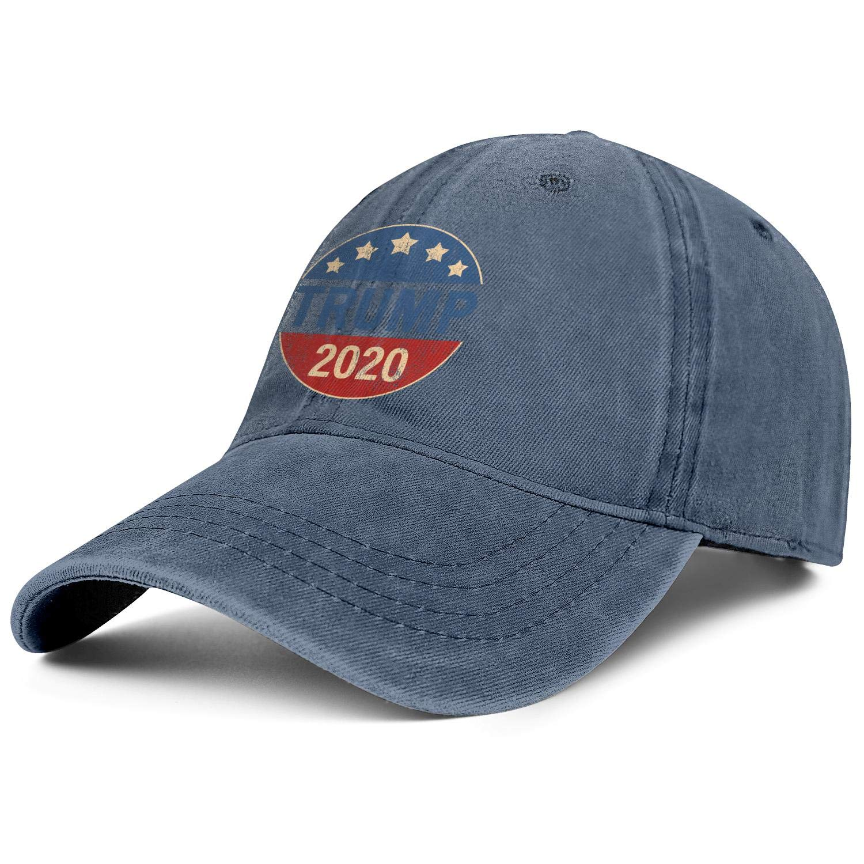 zingyone Trump-2020-white Denim Baseball Caps for Men Baseball Hats Dad Hats