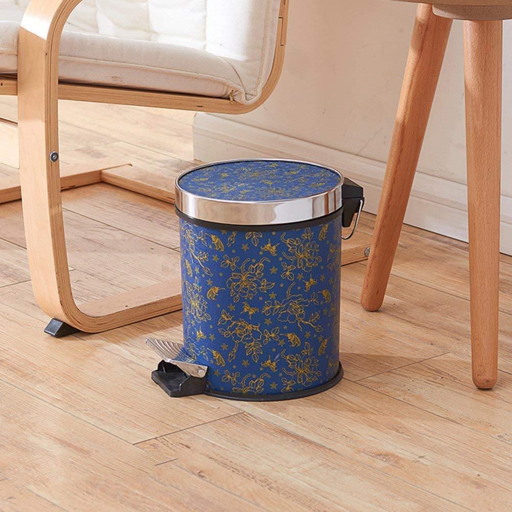 LJT Cocina/Dormitorio / Papelera de la Oficina, Cubo de Basura del Pedal, Cubo de Basura Papelera de baño Redonda Cubo de Basura con la Tapa