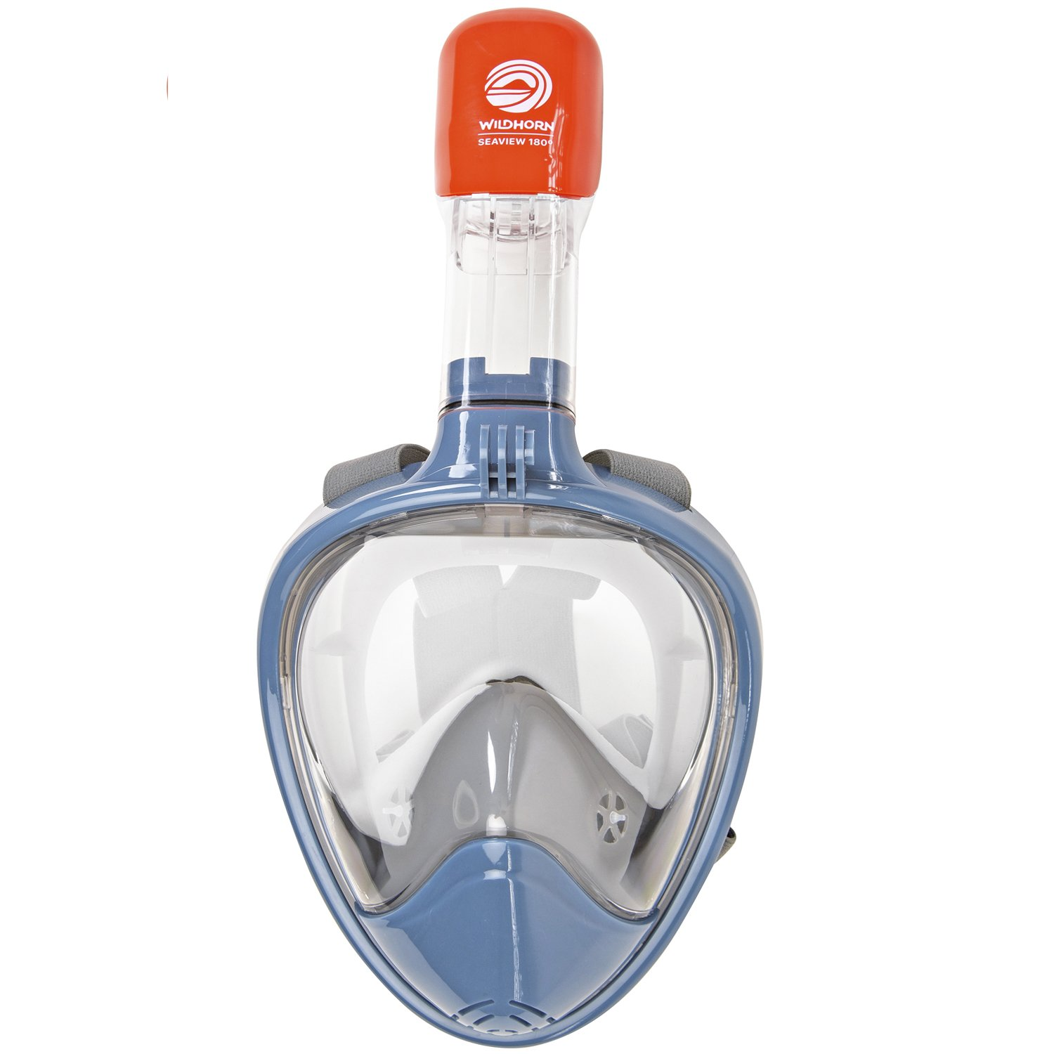 Seaview 180° GoPro Compatible Snorkel Mask- Panoramic Full Face Design. See More With Larger Viewing Area Than Traditional Masks. Prevents Gag Reflex with Tubeless Design (Manta Ray, S/M) by WildHorn Outfitters (Image #9)