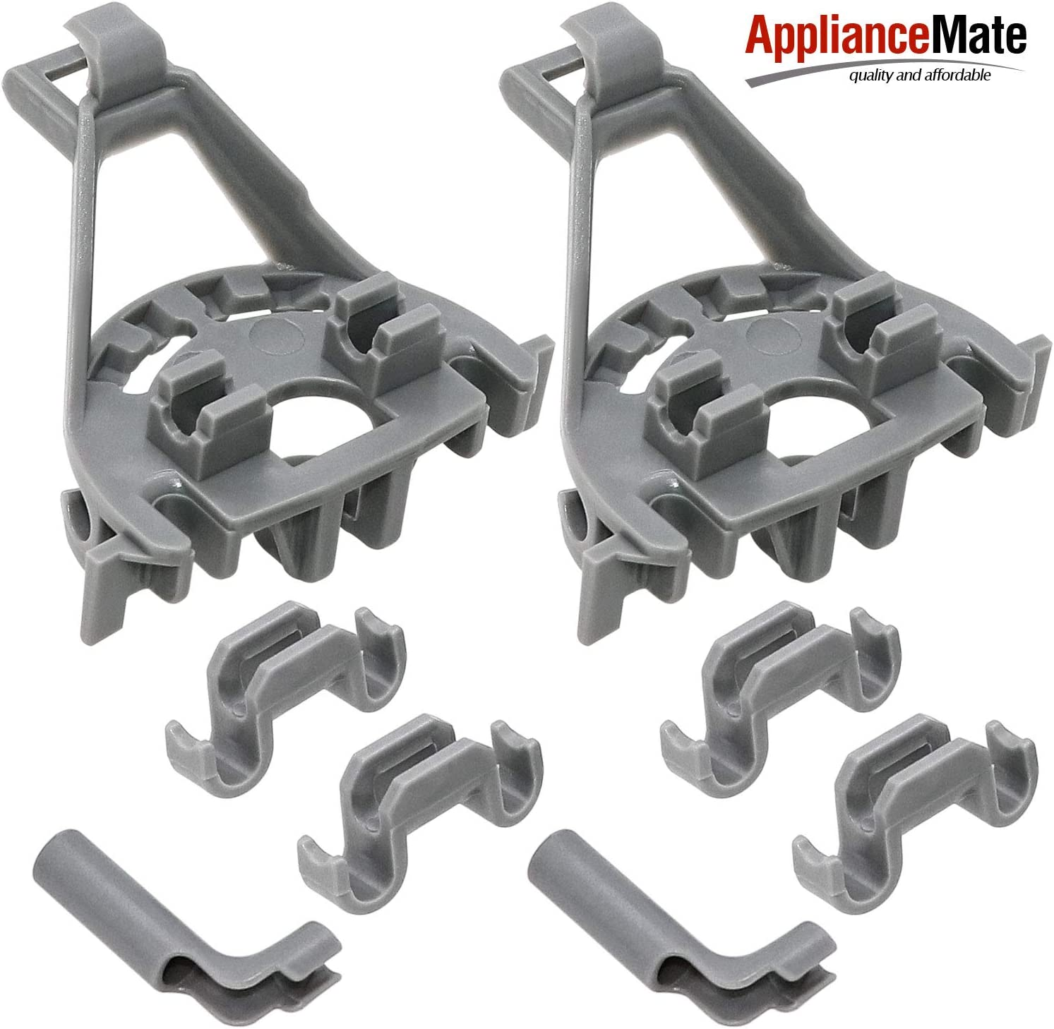 Appliancemate 428344 Dishwasher Bearing 00428344 Lower Tine Clip Kit For Bosch Thermador Kenmore Dishwashers 2 - Pack