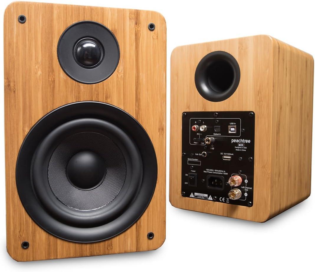 Peachtree Audio M25 Powered Speakers (Pair) - Real Bamboo