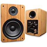 Peachtree Audio M25 Powered Speakers (Pair) Real Bamboo