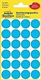Avery Zweckform 3005 Markierungspunkte (96 Stück, Ø 18 mm) 4 Blatt blau