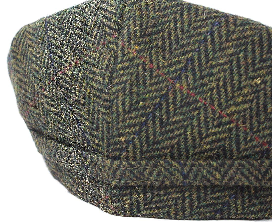 8e9a97bbef0 Mucros Flat Irish Hat Men s Green Herringbone Made in Ireland at Amazon  Men s Clothing store