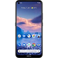 """Nokia 5.4 Smartphone with a 6.39"""" HD+ Screen, 48MP Quad Camera, Qualcomm Snapdragon 662, 2-Day Battery and Android Upgrades in Polar Night, Dual SIM, 4/128 GB (AT&T/T-Mobile/Cricket/Tracfone/Mint)"""