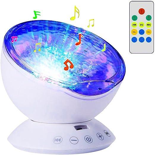 Lámpara de LED Proyector de Luz Océano con Altavoz Conecta a Móvil ...