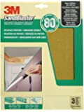 3M Sandblaster 60-080 High-Performance Sandpaper P80/Coarse for Paint Removal 230 x 280 mm Pack of 3
