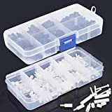 Proimb 300pcs M2 M3 Nylon Hex Nuts Screws Spacers Stand-off Plastic Accessories Assortment White, Black