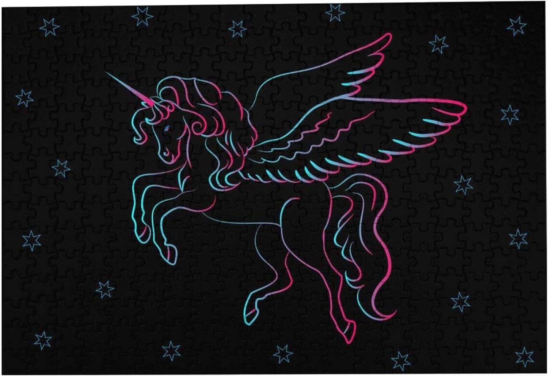 Serity Unicornio Infantil Rompecabezas puede relajar sus mentes y cultivar sus habilidades de pensamiento y prácticas, 1000 piezas