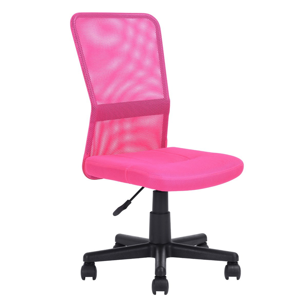 Charmant N.B.F. Office Chair Student Chair Swivel Seat In Fabric Pink