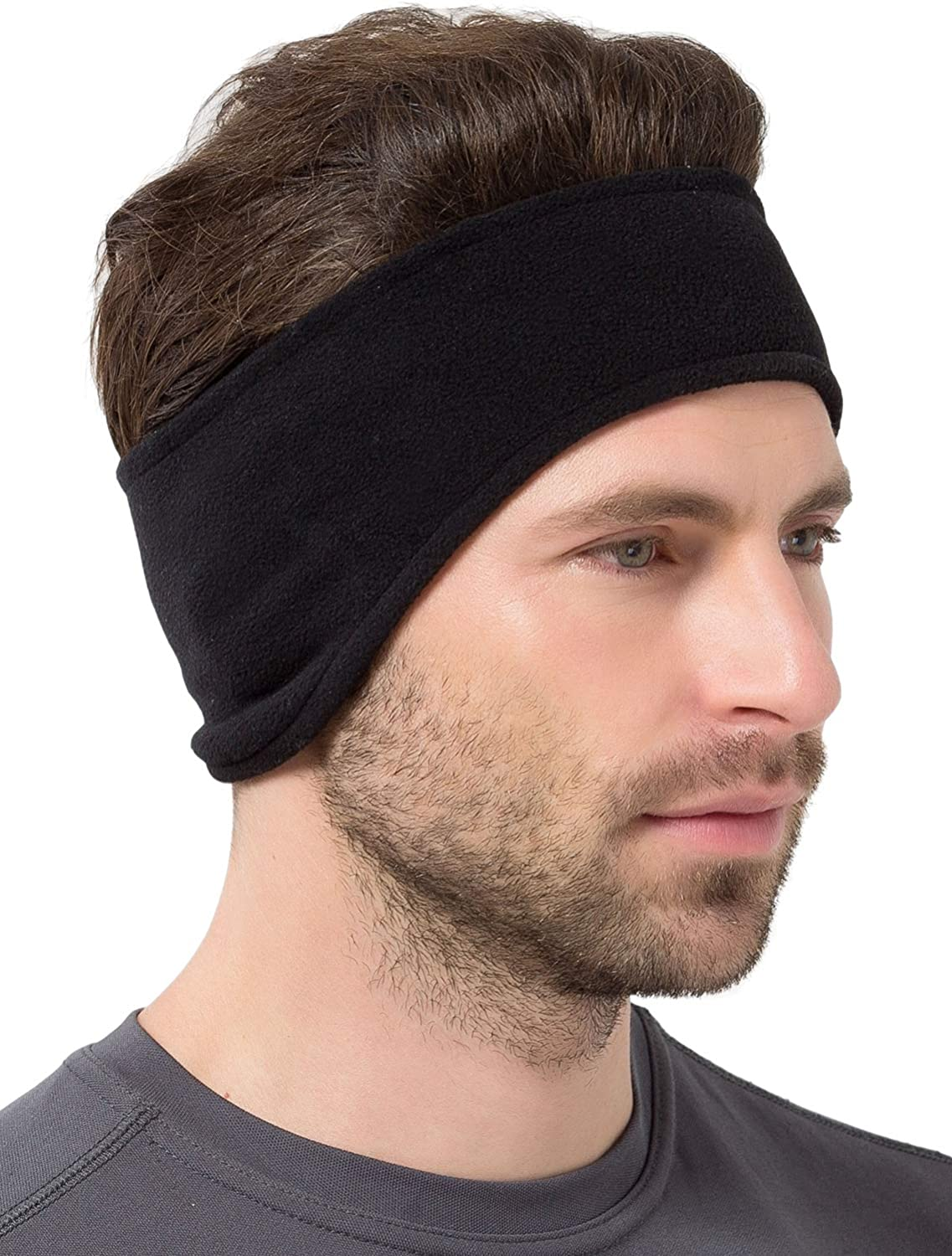 Black TOP HEADWEAR Fleece Ear Muffs