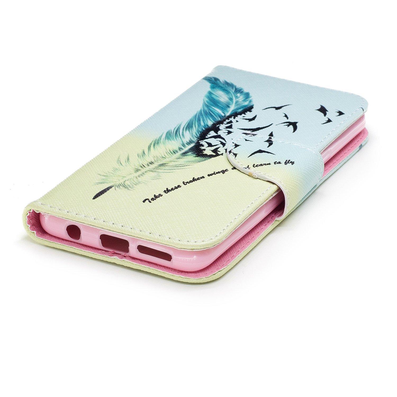 Herbests Coque Galaxy S9 Etui de Protection PU Cuir Coque Motif Bookstyle Housse /à Rabat Couverture Silicone TPU Bumper Folio Flip Case Cover /Étui