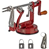 Ikigai Apple Peeler Slicer Corer with Stainless Steel Blades and Powerful Suction Base for Apples and Potato