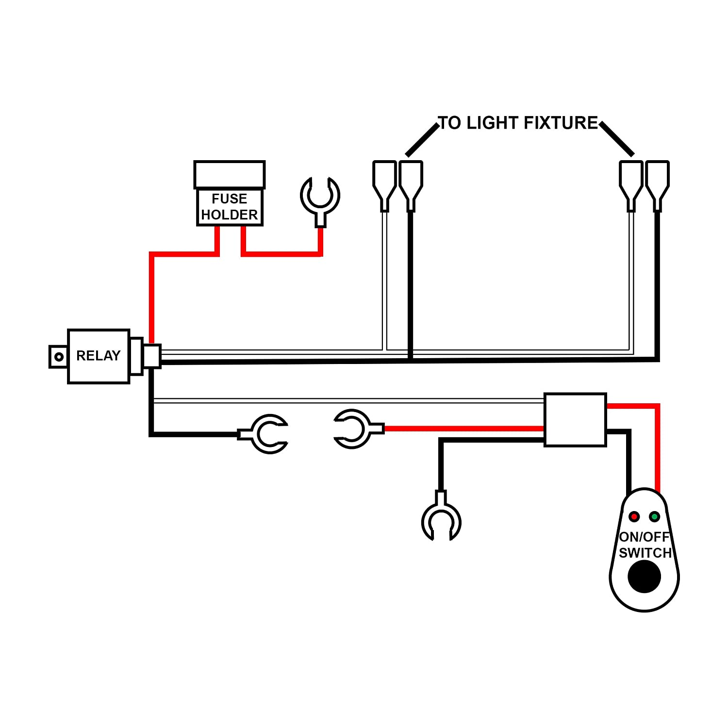 71fqGUyUJ5L._SL1500_ amazon com dt moto™ off road atv jeep led light bar wiring Toggle Switch Wiring Diagram at n-0.co