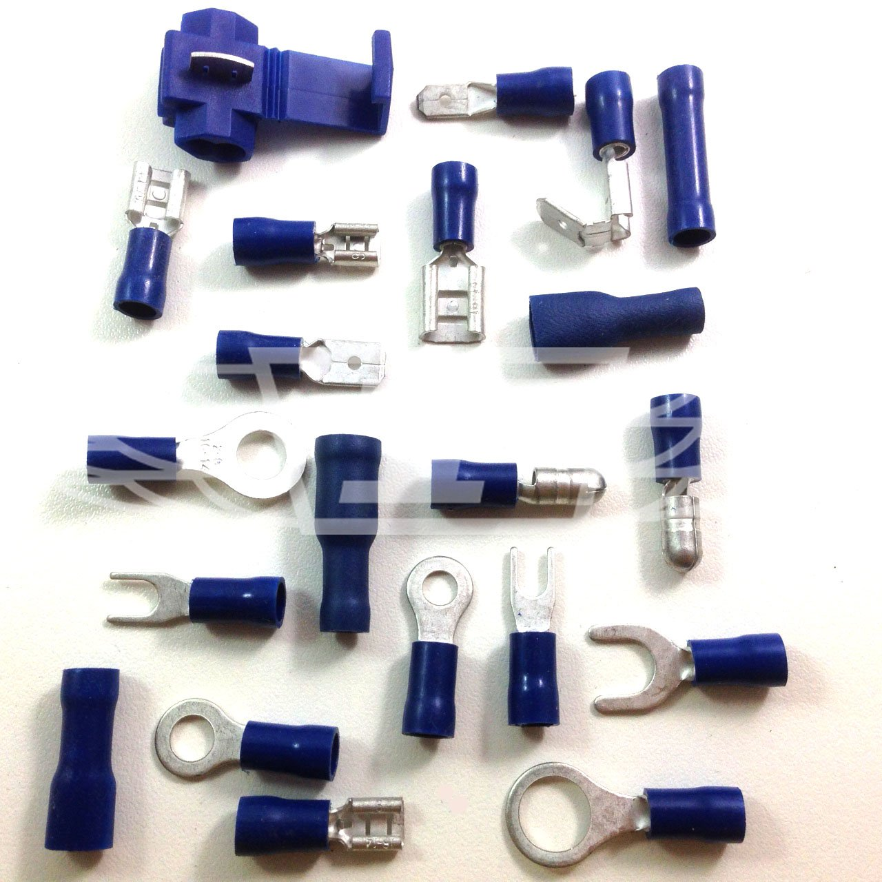 PACK OF 10 x 8.0mm BLUE FEMALE PUSH ON ELECTRICAL CONNECTORS / TERMINALS Falcon Workshop Supplies Ltd
