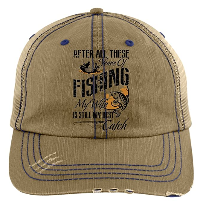 076bab135e596 I Love Fishing Trucker Cap