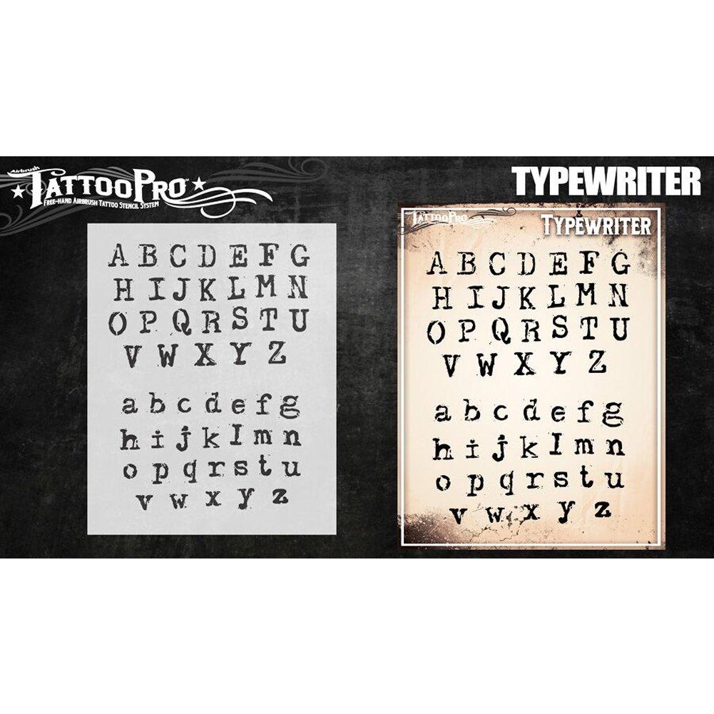 Typewriter Font Tattoo Pro Stencils Script Script Script