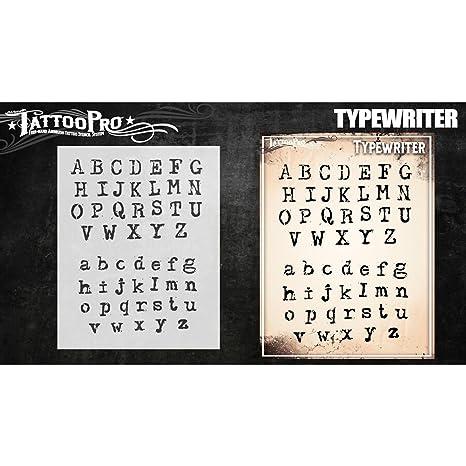 Plantillas de tatuaje Pro - máquina de escribir de la fuente