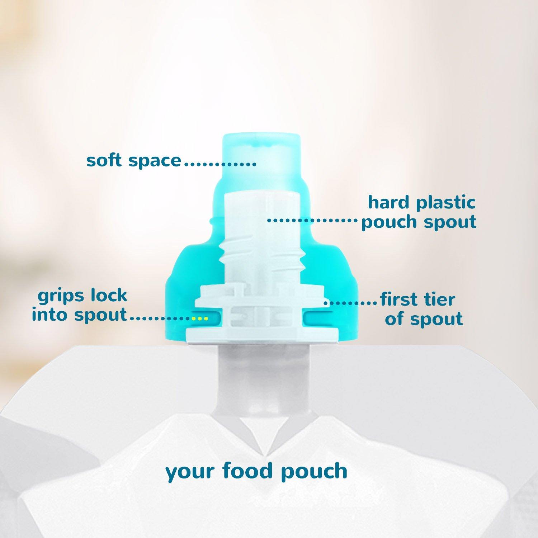 ChooMee Sipn Alimentaire Sachet Toppers 4 Couleurs Case Purple emp/êche Les d/éversements