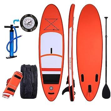 Tabla de surf Mymotto para SUP, inflable, de doble capa, universal, Unisex adulto, naranja, 268 x 75 x 14 cm: Amazon.es: Deportes y aire libre