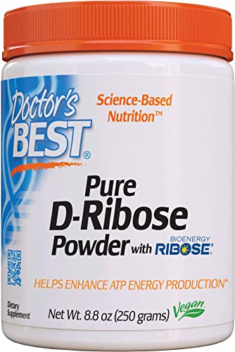Doctor s Best D-Ribose with Bioenergy Ribose, Non-GMO, Vegan, Gluten Free, Energy Enhancement, 250g