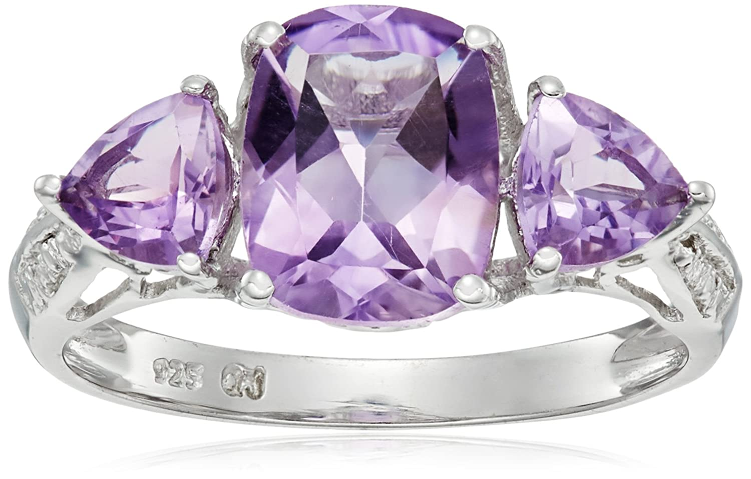 Amazon.com: 2.34 Carat Genuine Amethyst .925 Sterling Silver Ring: Jewelry