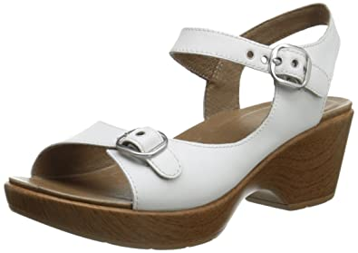 Dansko Women's Joanie Dress Sandal, White Full Grain, 36 EU/5.5-6
