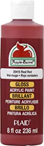 Apple Barrel Gloss Acrylic Paint in Assorted Colors (8 oz), Gloss Real Red