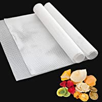 Pack of 6 Square Silicone Dehydrator Sheets, Non-stick Food Fruit Dehydrator Mats, Reusable Steamer Mat Mesh for Fruit…