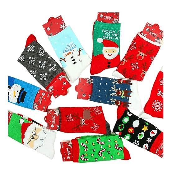 Calcetines de hombre Mujer Tamaño 6-11 Calcetín Calcetines de navidad Tamaño libre Calor de