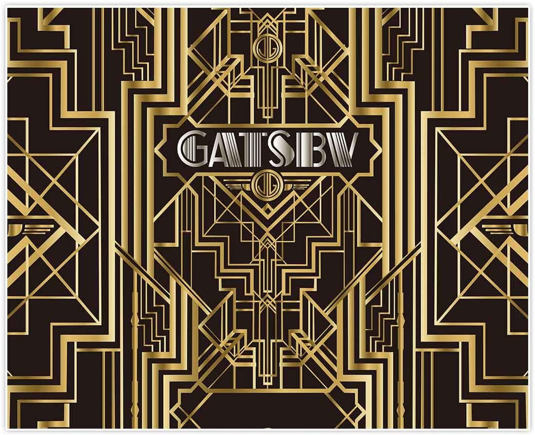 Allenjoy 10x8ft Great Gatsby Backdrops for Photography Birthday Children Adults Roaring 20s Graduation Theme Party Black and Gold Golden Banner Photo ...