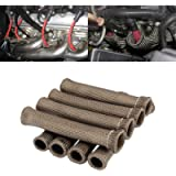 Spark Plug Protect Boot 1800 Degree Heat Shield Thermal Protection Insulator Sleeve Spark Plug Wire Boots 6 inch for Car…