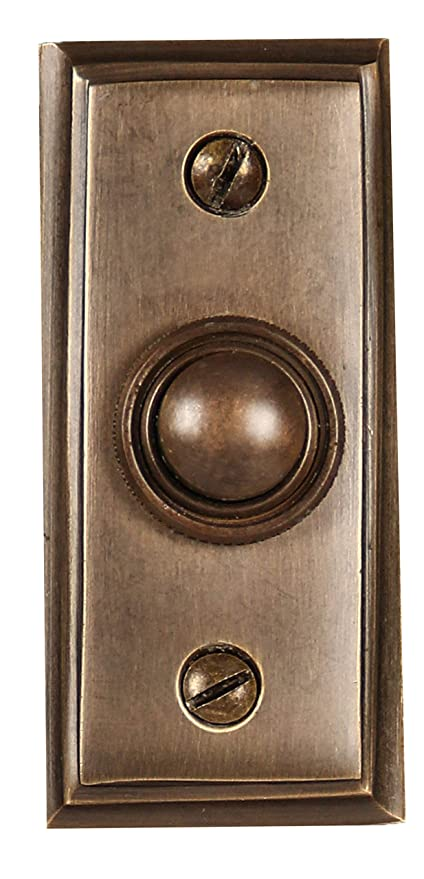 Wired Brass Doorbell Chime Push Button in Antique Brass Finish Vintage  Decorative Door Bell with Easy - Wired Brass Doorbell Chime Push Button In Antique Brass Finish