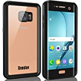 Temdan Samsung Galaxy S7 Edge Waterproof Case with Kickstand and Floating Strap IP68 Waterproof Shockproof Protective Clear Case for Galaxy S7 Edge