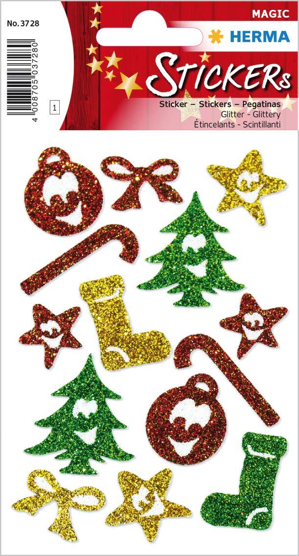 HERMA Weihnachts-Sticker MAGIC'Symbole', glittery