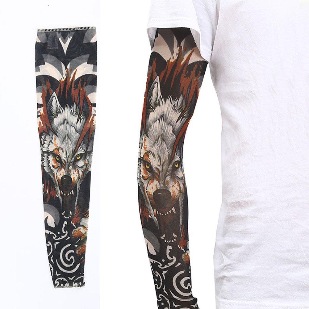 zqxpp z158 TattooスポーツアームスリーブサイクリングSun保護UVカバーアームsleeves-1ペア  カラー17 B073NGYV9Q
