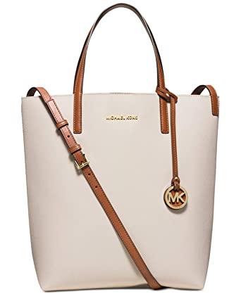 28d2e805119e Amazon.com  MICHAEL Michael Kors Womens Hayley Large Convertible Tote  Vanilla luggage  Clothing